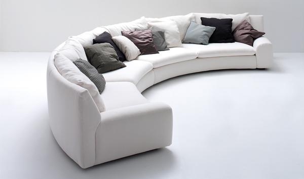 ספה בשבלונה עגולה