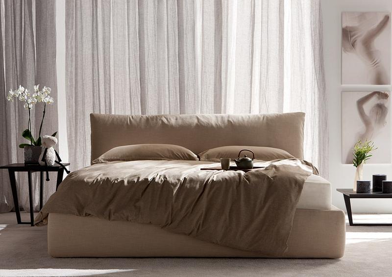 חדרי שינה מעוצבים   מיטה מעוצבת דגם פולו