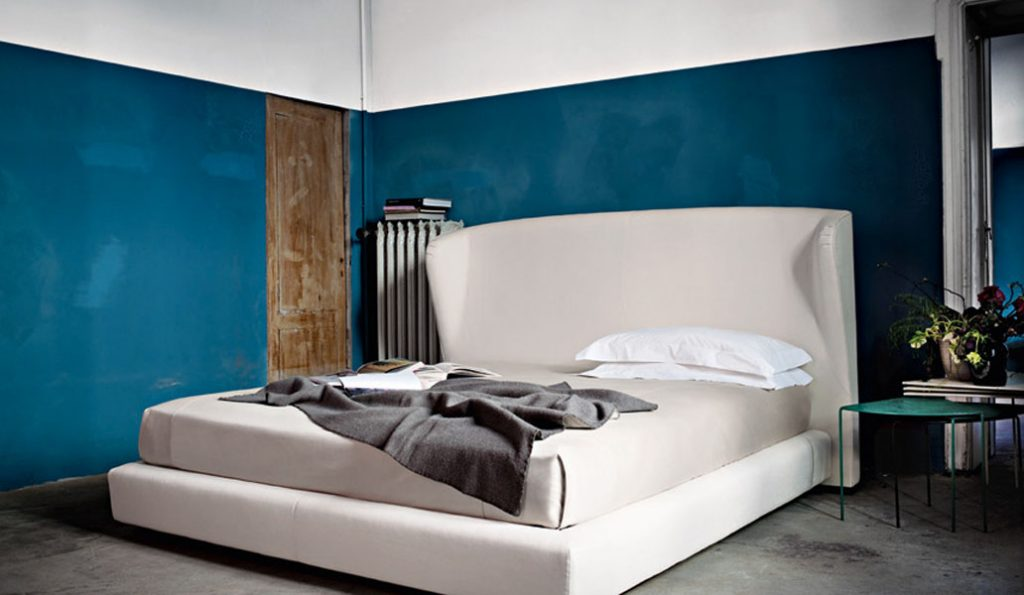 חדרי שינה קירות בצבע תכלת