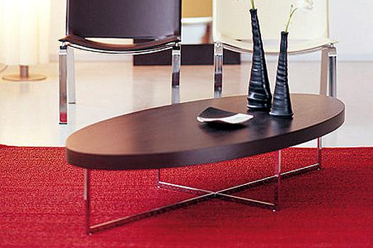 שולחנות סלון - שולחן לסלון דגם אובלי