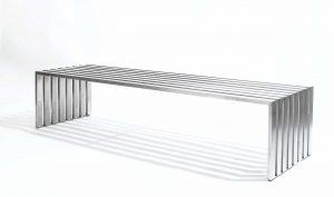 שולחן לסלון דגם נירוסטה