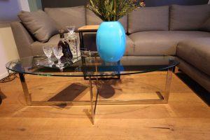 למכירה מתצוגה שולחן סלון נירוסטה