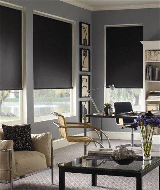 וילון מעוצב שחור לסלון