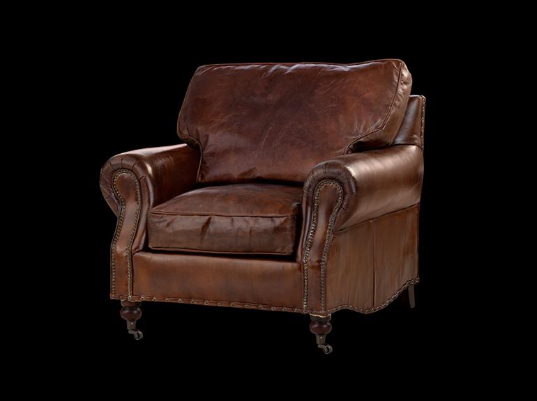 כורסא מעוצבת דגם סיסטר חומה