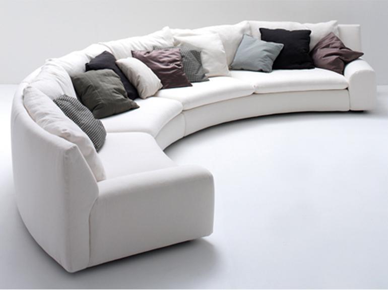 ספה פינתית בשבלונה עגולה דגם לינן